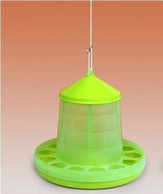 Hangende plastic voerbak limegroen 2kg