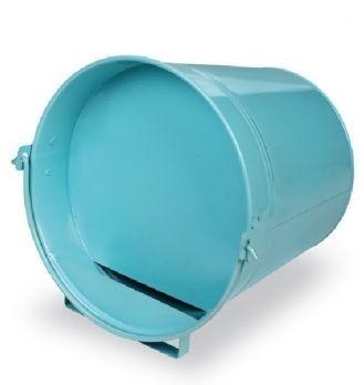 Blauwe Geschilderde Drinkemmer liggend 12 liter.