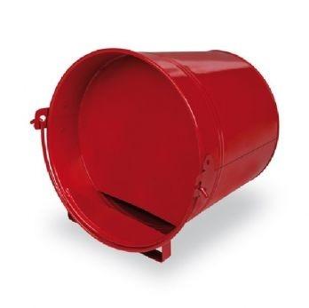 rood Geschilderde Drinkemmer liggend 4 liter.